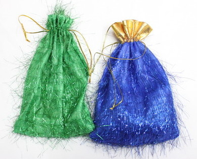 Fluffy fabric gift bag # 1401-012-1