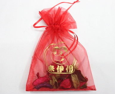 Organza bags #1403-007 , with logo for promotional gifts