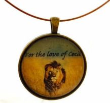 cecil the lion brass pendants