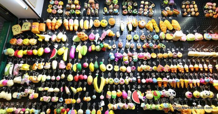 ice cream, fake fruits keyrings wholesale yiwu market china