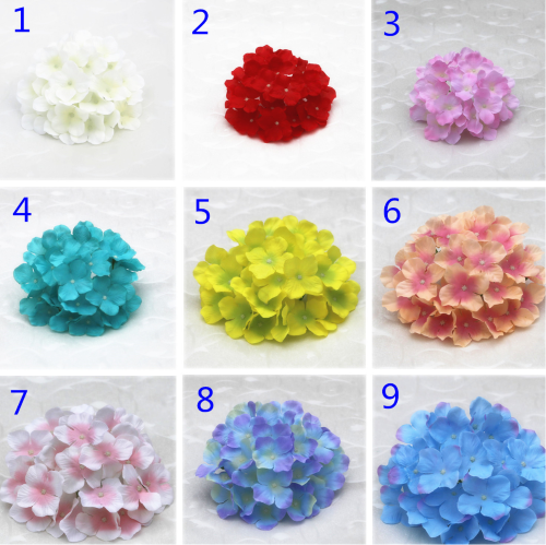 Top 4 hydrangea silk flowers wholesale Yiwu China, color swatch 1