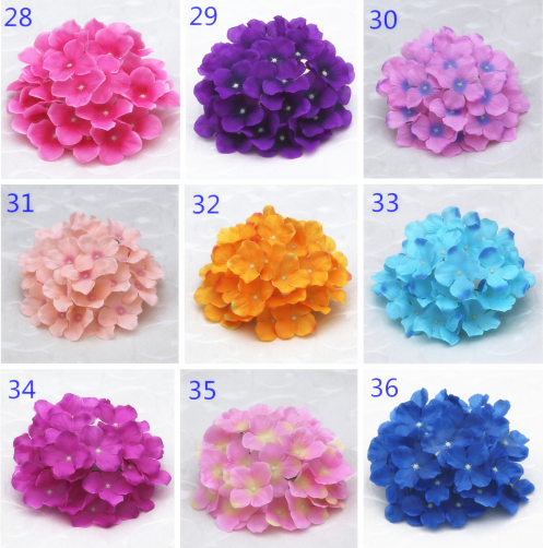 Top 4 hydrangea silk flowers wholesale Yiwu China, color swatch 4