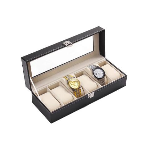 PU Leather Watch Display Box 6 slots (3)