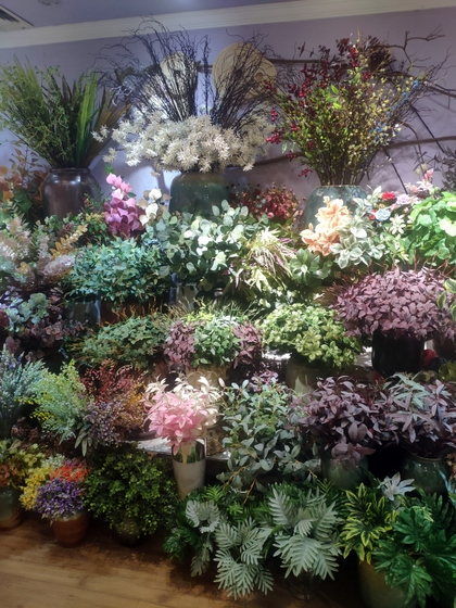 9101 YIZHENG Artificial Flowers & Plants wholesale supplier showroom 014
