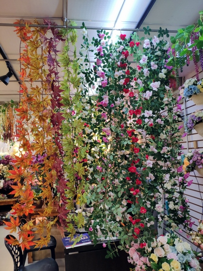 9113 SuRong Plastic Flowers Factory Wholesale Supplier Showroom 004