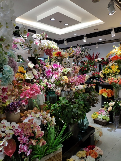 9122 HangBin Fake Plants Showroom 002