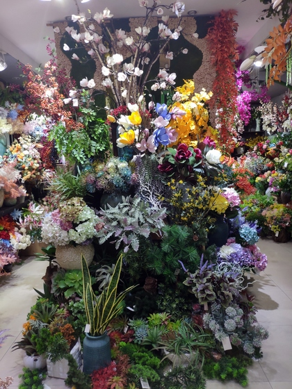 9130 HONGXIN Plastic Flowers Showroom 001