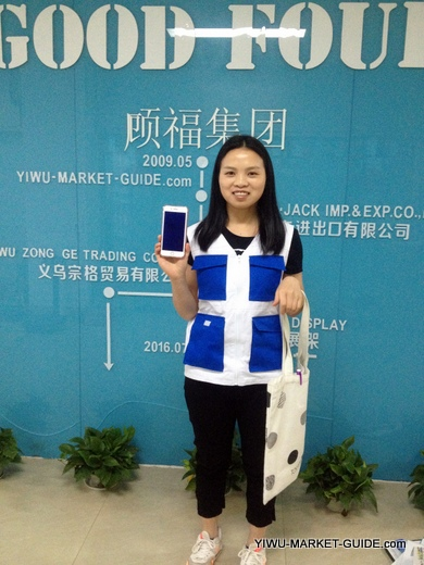 professional guide / translator in Yiwu market with phone / camera