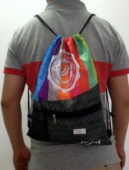 Promotional Drawstring Backpack Size