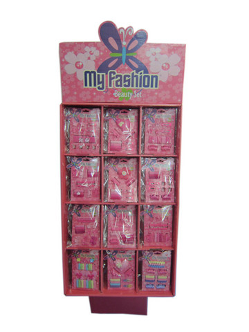 Hair Accessory Set With Display Box Pink 1