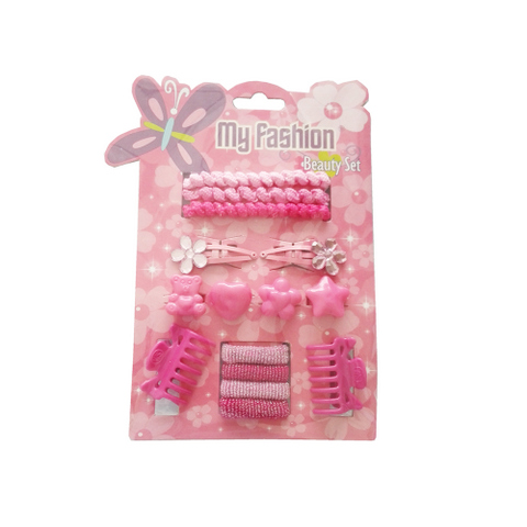15 pcs girl hair accessories set: pin, band, comb
