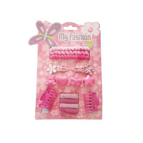 15 pcs girl hair accessories set: pin, band, comb