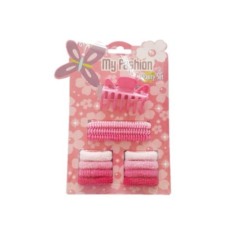 12 pcs girl hair accessories set: band, comb