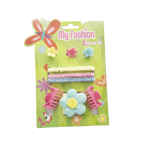 Hair Accessories Set With Display Box Green