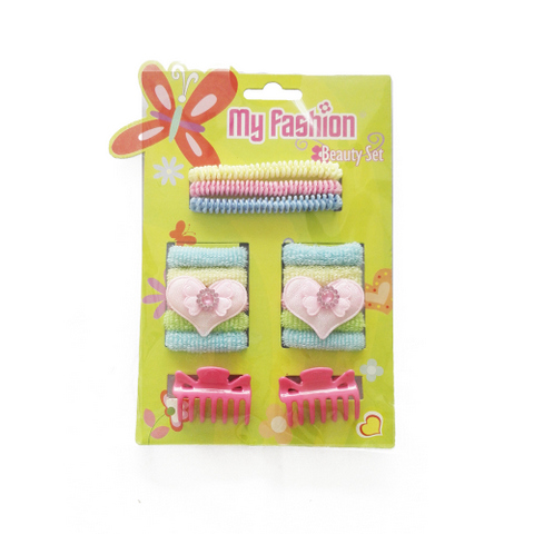 Hair Accessories Set With Display Box, Green