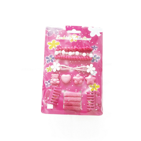 14 pcs hair accessories set for kids: claws, bands, clips