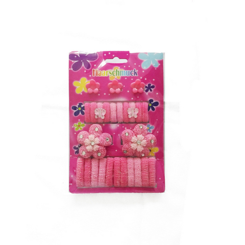 23 pcs hair accessories set for kids:  bands, clips