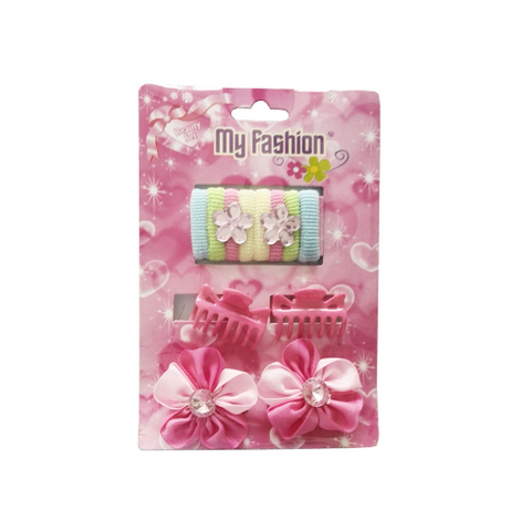 12pcs Set Girls Hair Accessories With Display Box, Pink
