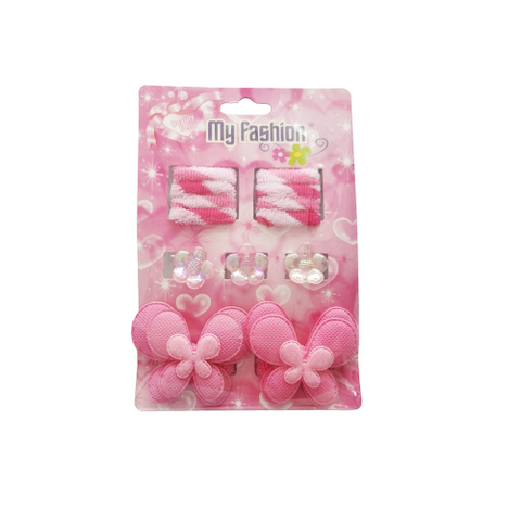 13pcs Set Girls Hair Accessories With Display Box, Pink