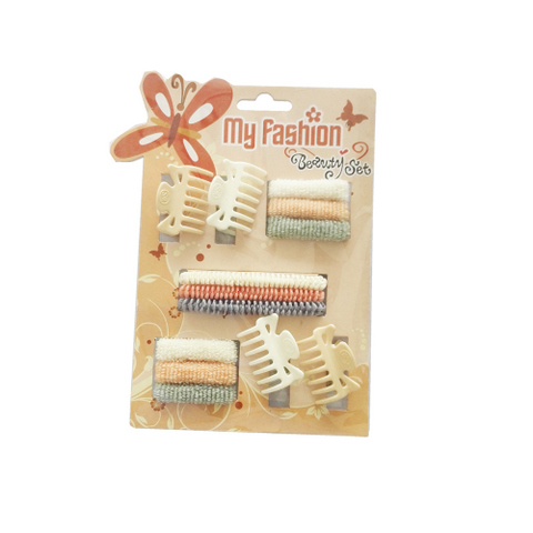 Hair Accessories Set With Display Box, Brown 7