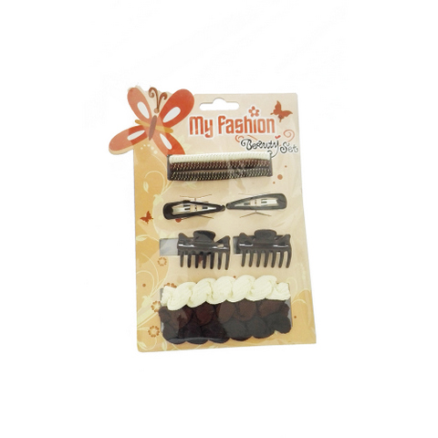 Hair Accessories Set With Display Box, Golden