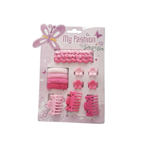 Hair Accessories Set With Display Box, Purple 4