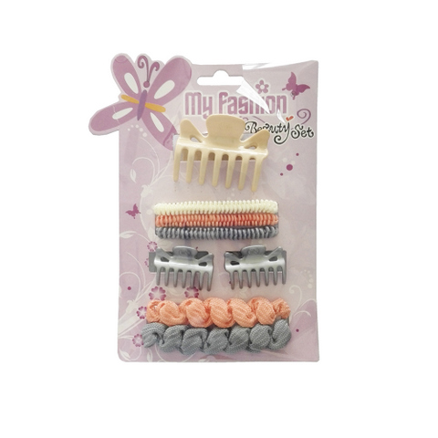 Hair Accessories Set With Display Box, Purple 6