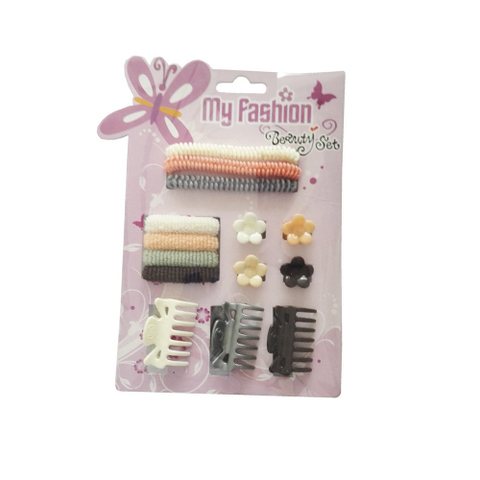 Hair Accessories Set With Display Box, Purple 7