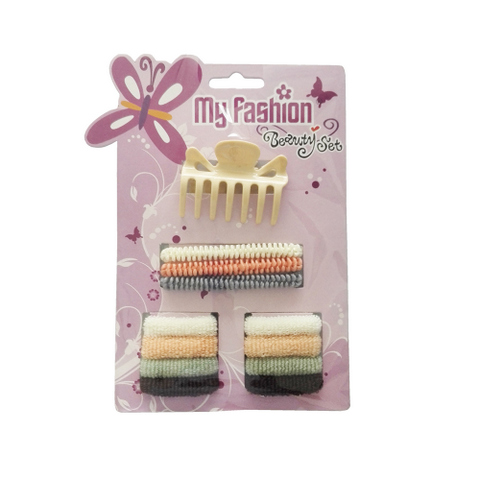 Hair Accessories Set With Display Box, Purple 8