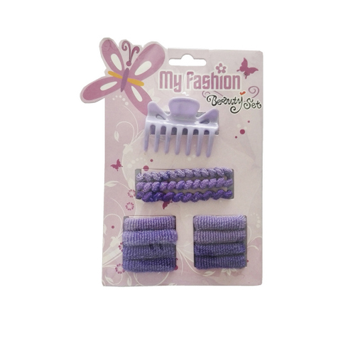 Hair Accessories Set With Display Box, Purple 9