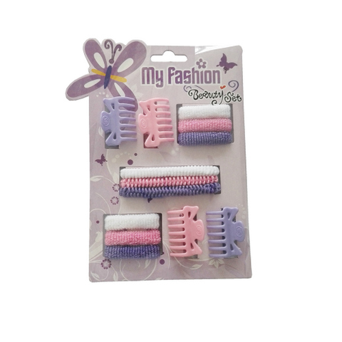 Hair Accessories Set With Display Box, Purple 10
