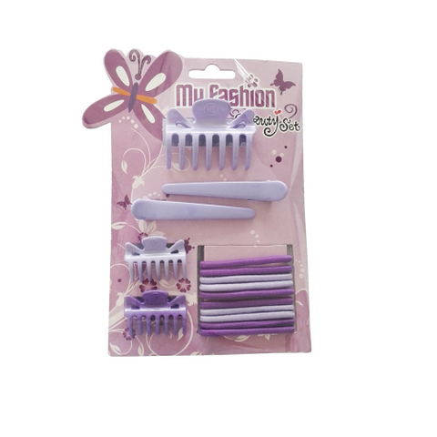 Hair Accessories Set With Display Box, Purple 12