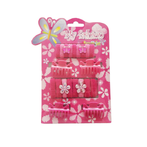 21pcs Kids Hair Accessories Set With Display Box, Pink