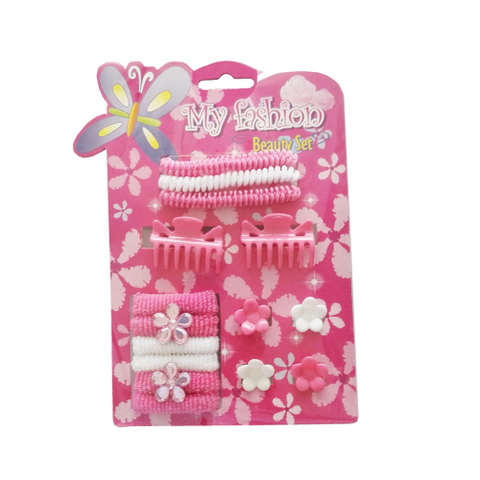 15pcs Kids Hair Accessories Set With Display Box. Flower pins