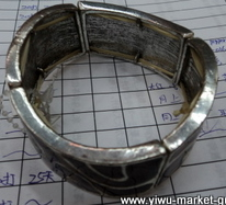 big alloy bracelet