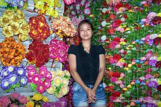 suppliers in artificial flowers market yiwu