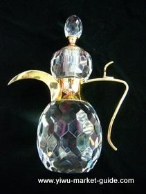 big crystal bottle