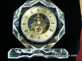 big crystal clock in Yiwu market, China