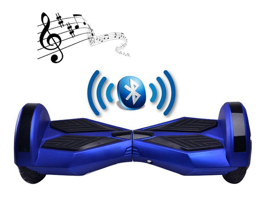 bluetooth hoverboard neon blue