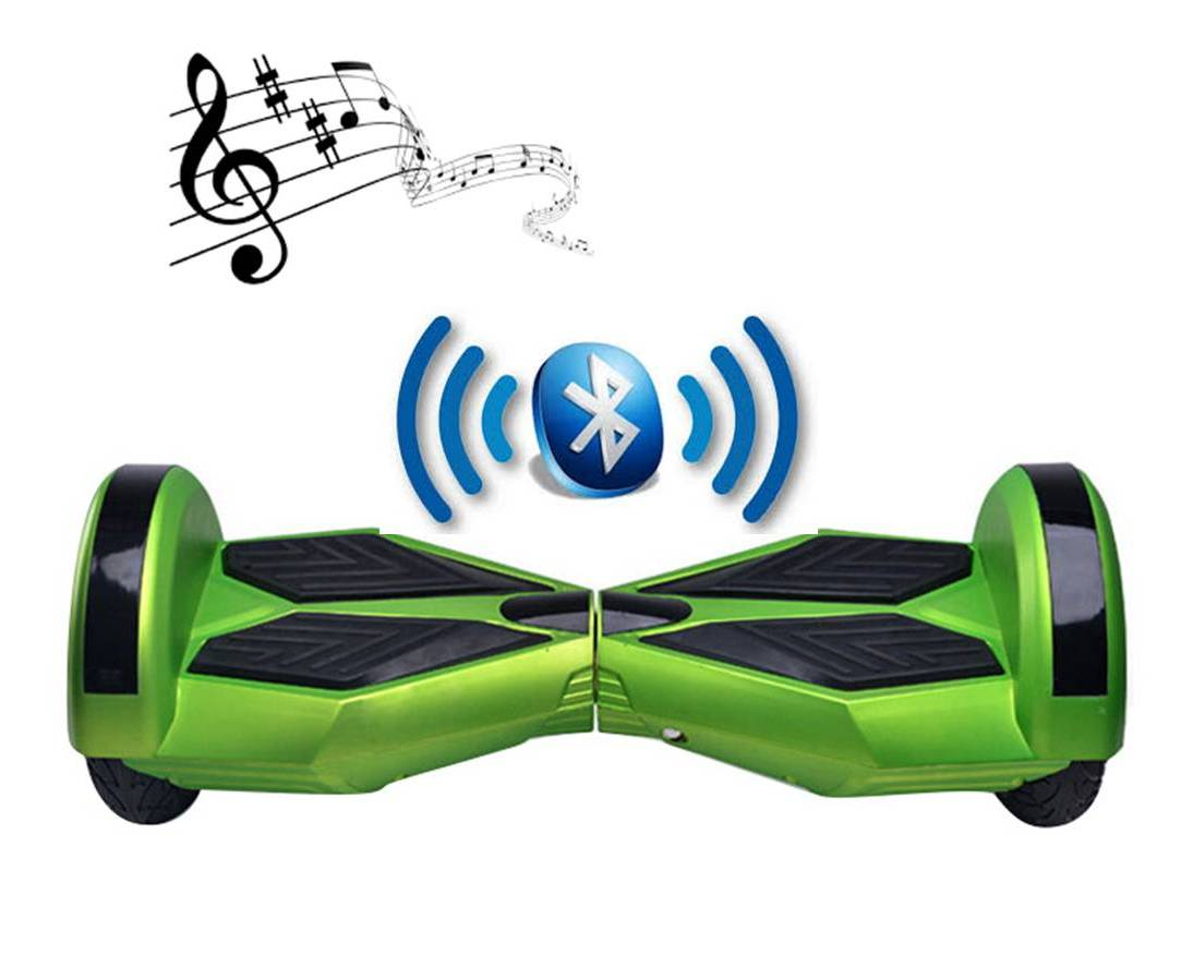 bluetooth hoverboard neon green