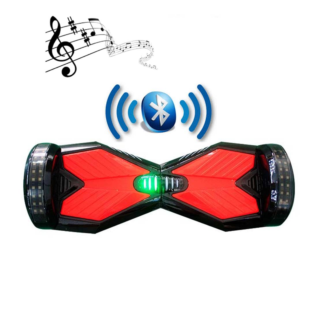 bluetooth hoverboard black and red