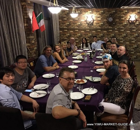 buyer group tour Yiwu restaurant