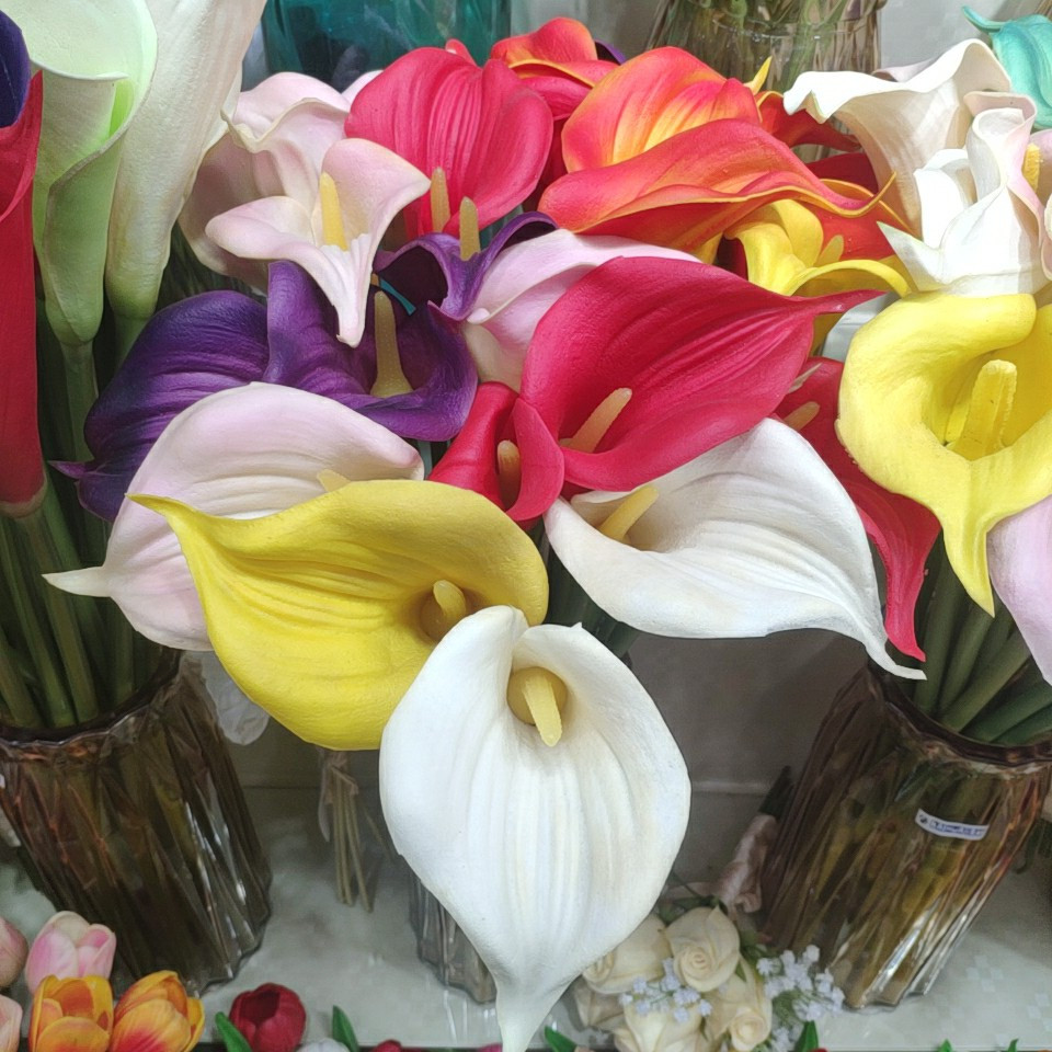 Calla lily flowers real touch (PU), Yiwu China 1