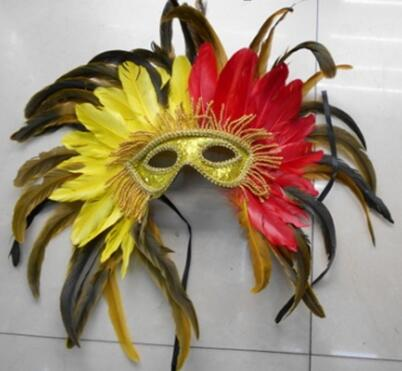carnival feather mask yiwu china