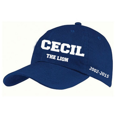 cecil the lion hat blue
