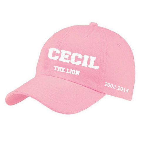 cecil the lion hat pink