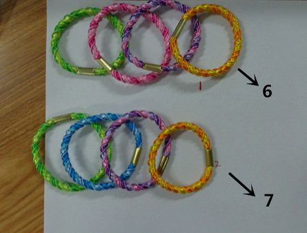 two color elastic rubber hair bands for shampoo promotion