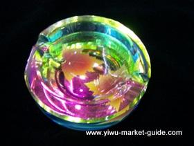 color crystal ashtray wholesale china