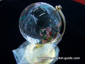 small crystal globe