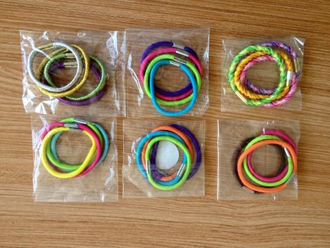 different color hair band for shampoo promotion